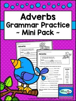 Adverbs - Grammar Practice - Mini Pack ($)