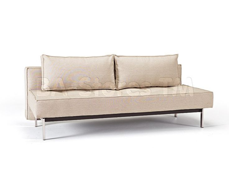 White Leather Sofa  Innovation Sly Deluxe Mixed Dance Natural Sofa Bed Chrome Legs