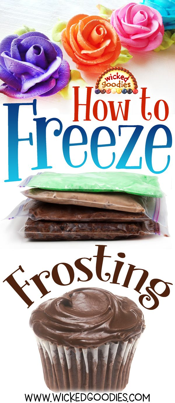 How to Freeze Frosting Cake decorating, Frozen cupcakes