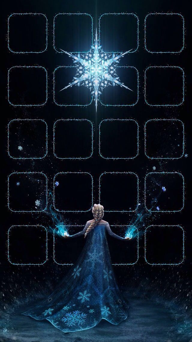 !!TAP AND GET THE FREE APP! Shelves Homescreens Icons Cartoons Disney Frozen Elza Snoflake Winter Black Blue Sparkle Shining Magic HD iPhone 5 Wallpaper