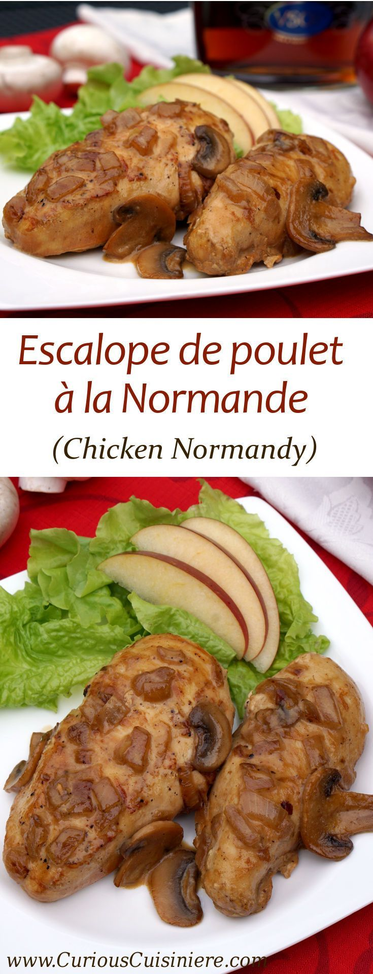169 best french food recipes images on pinterest desert recipes escalope de poulet la normande chicken normandy forumfinder Image collections