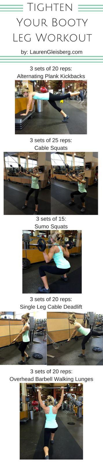 Day 30: Tighten Your Booty Leg Workout | #LGKickStartFit Health & Fitness Challenge by LaurenGleisberg.com
