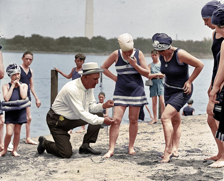Retro swimsuits are certainly coming back in style, but most of the popular vintage designs still wouldn't adhere to the rules set in place in 1922. Back then swimsuit police roamed the boardwalks, making sure the hem of your bathing dress wasn't too risqué.