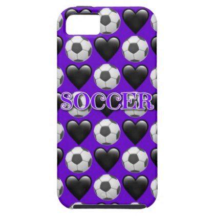 Purple Soccer Emoji iPhone SE/5/5s Phone Case - pattern sample design template diy cyo customize