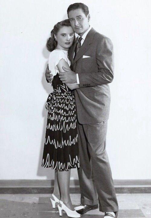 Barbara Stanwyck and Errol Flynn in Cry Wolf. 1947