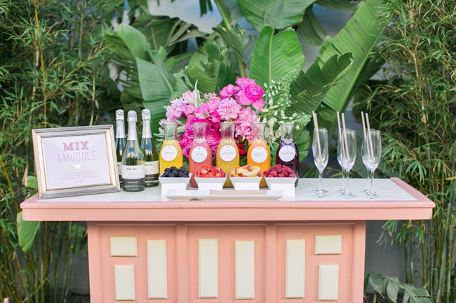 have a mimosa bar for your bridal shower! Wine from One Hope Wines.