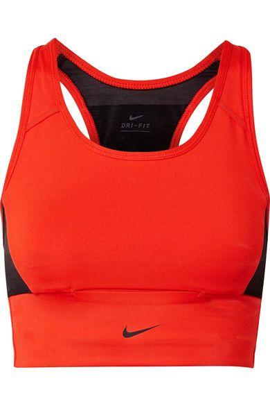 44c4aa8fdc5ae Nike - Pocket Mesh-paneled Dri-fit Stretch Sports Bra - Red