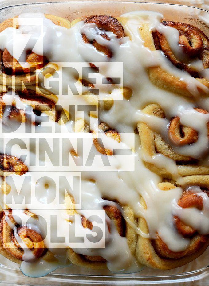 7 Ingredient Vegan Cinnamon Rolls! via minimalistbaker.com