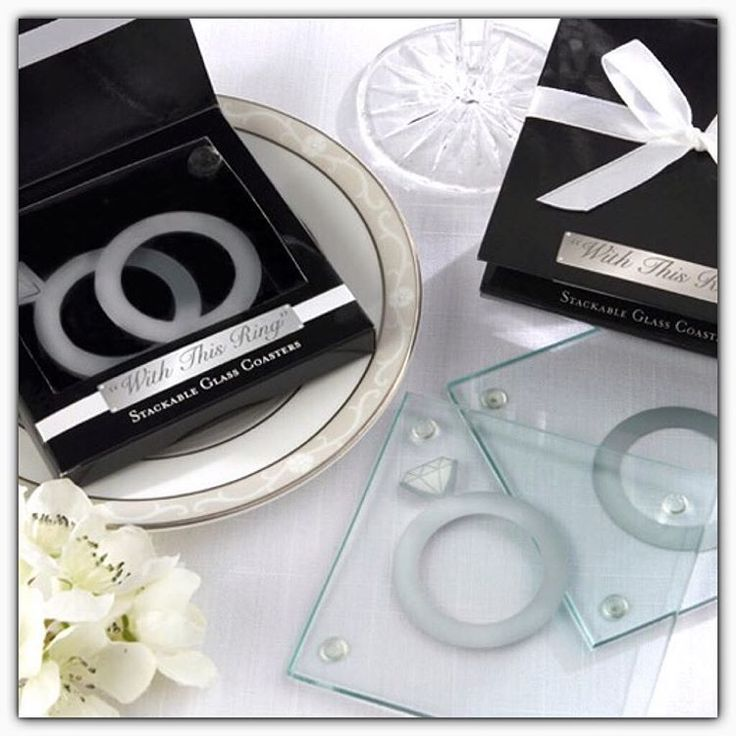 Wedding Favor Glass Coaster With This Ring Party Guest Gifts Give Away Souvenirs Bridal Shower Favors