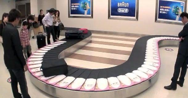 Oral-B usa esteira de aeroporto como mídia para promover escova dental elétrica