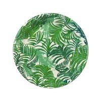 ASSIETTE JETABLE 12 Assiettes en carton Tropical Jungle 23 cm