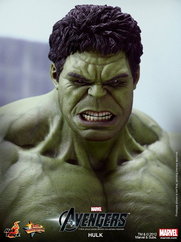 Hulk Smash!     He's big, he's green and he's finally joining the ranks of Hot Toys 1:6 Scale figures. That's right,  the Hulk 1:6 Scale Figure will be coming your way in 2013.