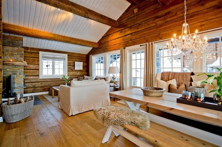 FINN – Hafjell - Sandstulen - ski inn / ut - Flott innholdsrik tømmerhytte med 5 soverom og 2 bad