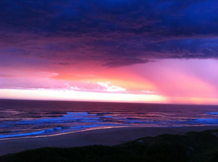 Multicolour sunset in the Wilderness South Africa in December 2011