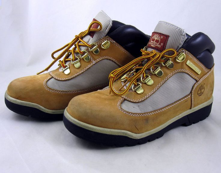 Timberland Youth Size 4 Leather Fabric Field Boots Hiking Boys Junior Shoes  #Timberland #Boots