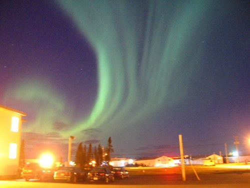 "RCAF Stn Goose Bay, Labrador, Canada ... The ""dancing"" Northern Lights were\are a very common sight on a cold winters night!Canada"