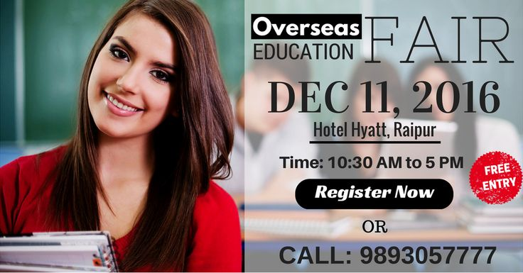 Attend biggest #Education #Fair of 2016 conducted by Krishna Consultants Raipur.  Register Today: https://goo.gl/CZLSCN