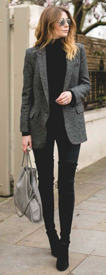Black elegant style | office outfits