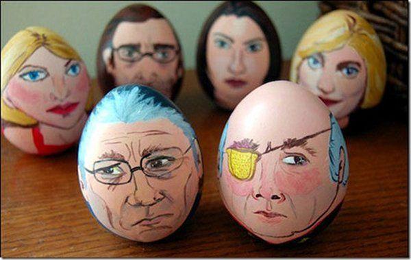 Battlestar Galactica eggs. Happy Easter!