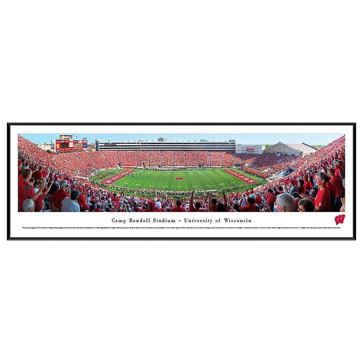 Wisconsin Badgers Football Stadium Framed Wall Art, Multicolor