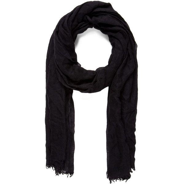 Faliero Sarti Dianetta Cashmere Silk Scarf in Black ($452) ❤ liked on Polyvore