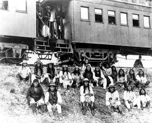 Geronimo and fellow Apache Indian prisoners on their way t… | Flickr