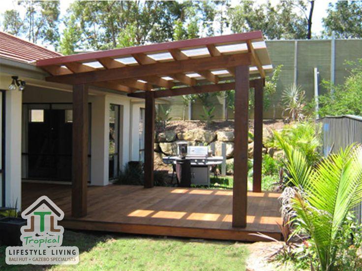 3 x 4m custom design patio pergola with laserlight for 3 post pergola plans