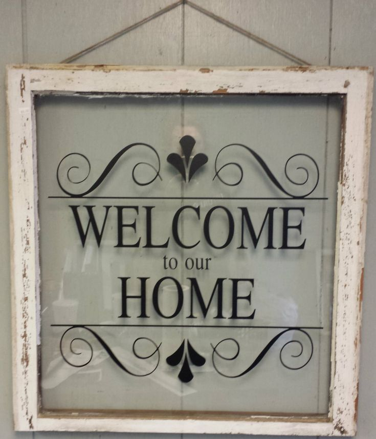 Vintage Single Pane Window Personalized by VaughnCustomCreation, $75.00 WELCOME HOME. Home Decor. Entrance. Vintage Window. Welcome. CUSTOMIZE WINDOWS.Products.Christmas Gift.