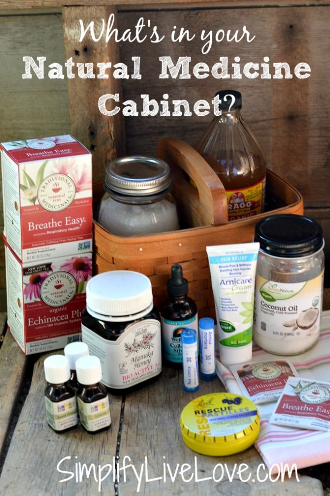 What's in My Natural Medicine Cabinet - A useful list of items found in natural medicine cabinets. #StressLess2BmyBest #CG