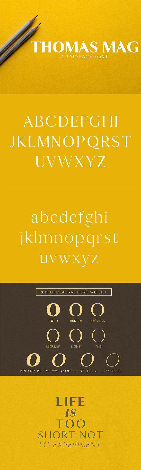 Thomas Mag Serif Typeface by Symufa on @creativemarket