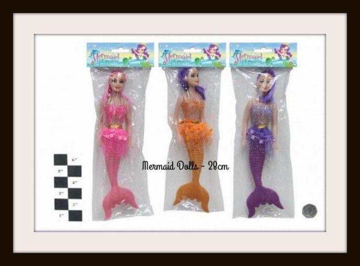 MERMAID DOLLS 28 cm Barbie Like Bendable Plastic Action Doll Children Gift NEW