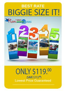 This is an awesome deal offered exclusively from MiamiSightseeingTours.com.  Five tours for one low price!  You get to go to the Everglades, Key West, Coconut Grove, Coral Gables, Miami Beach and Downtown by Bus and by Boat.  For the best prices on Tours, Tickets and rentals check out www.MiamiSightSeeingTours.com