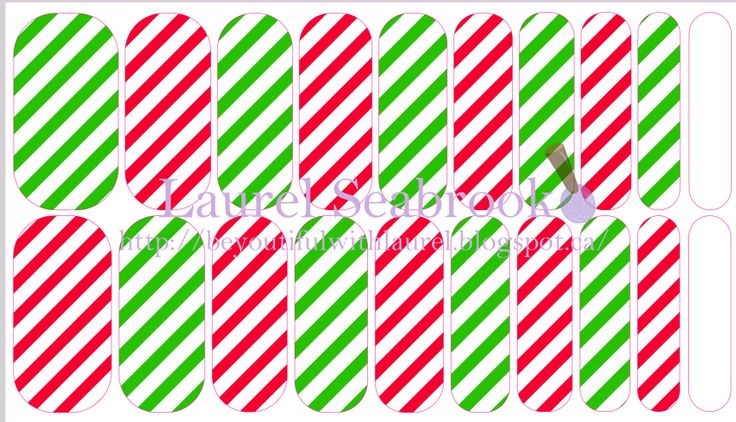 Candy Cane Lane #NAS #nailart