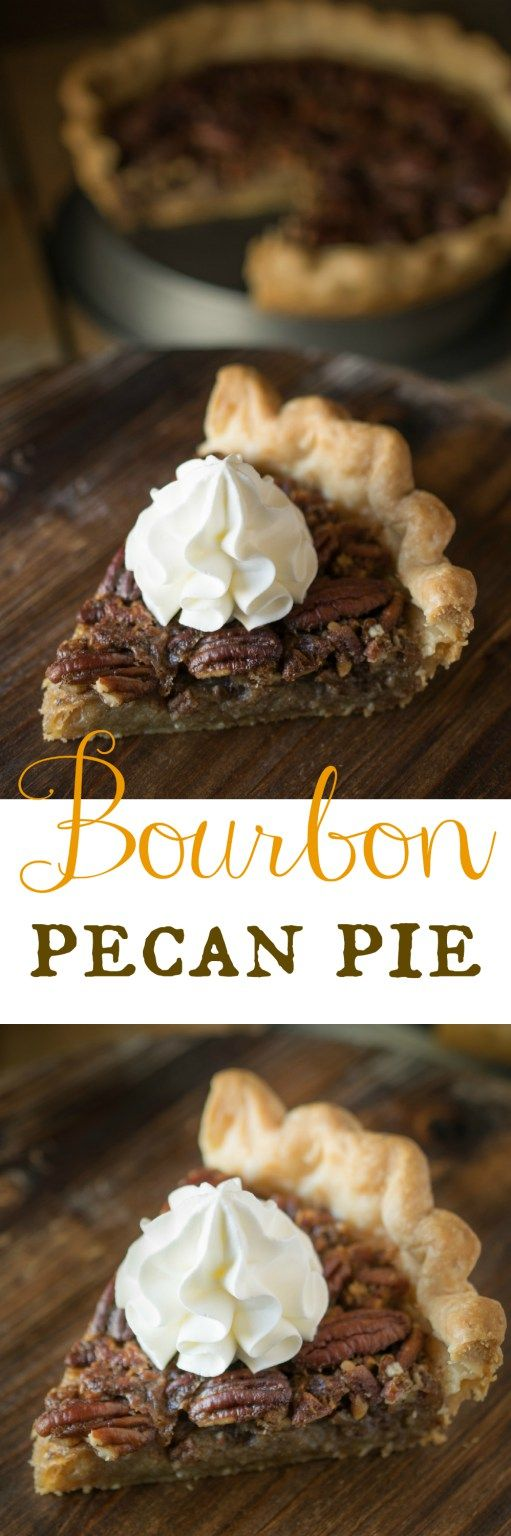Bourbon pecan pie - Traditional pecan pie gets taken to the next level by adding bourbon for amazing flavor. #pecanpie #thanksgiving #bourbon