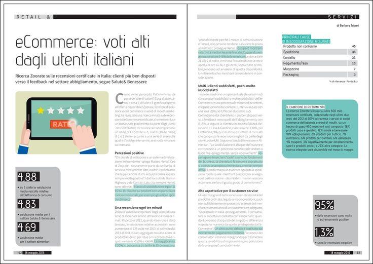 """""""Ecommerce: voti alti dagli utenti italiani"""" - Gdoweek, 18 maggio 2015"""