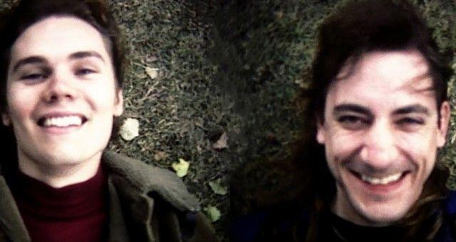 Billy Corgan and Jimmy Chamberlin, of the Smashing Pumpkins, December 1991