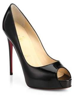 0b159f43e0c4 Christian Louboutin New Very Prive 120 Patent Leather Peep Toe Pumps ~Click  the link to