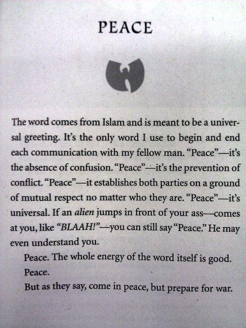 The Tao of Wu - Peace.