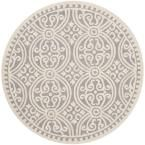 Cambridge Silver/Ivory 10 ft. x 10 ft. Round Area Rug