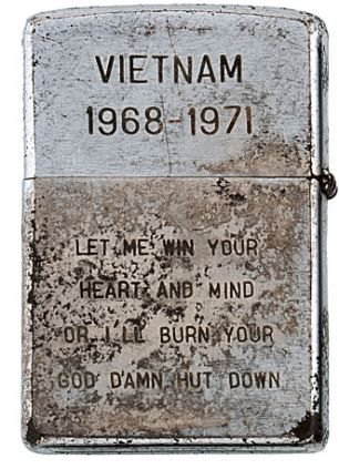 """Shedding a light on the psyche of war: Zippo lighters from U.S. troops fighting in Vietnam give a unique insight into life under fire."""