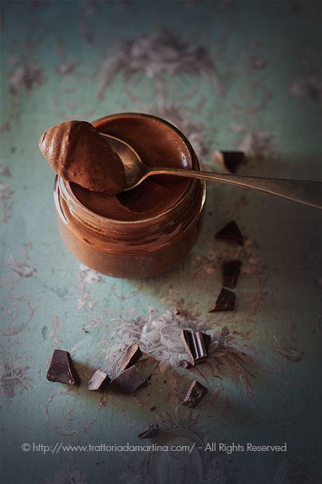 Mousse di cioccolato fondente all'acqua in 5 minuti - Trattoria da Martina
