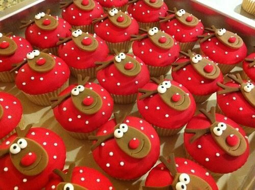 Reindeer Cupcakes - we could make these then watch Rudolph The Red Nosed Reindeer