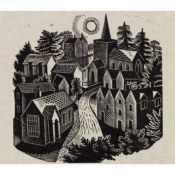 Wood engraving by Eric Ravilious, 1933                                                                                                                                                                                 More