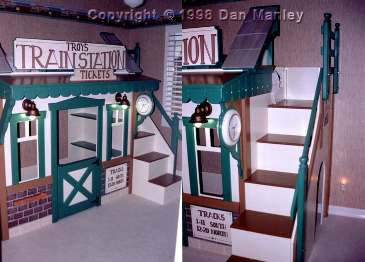 how to make toddler train bed ? | train themed bunk bed room victorian themed distressed dresser custom
