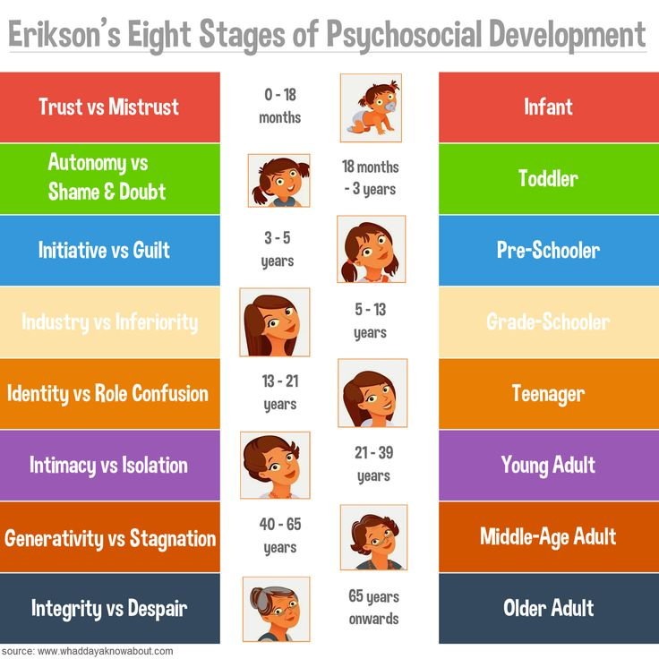erikson's stages of development Erik erikson's theory of psychosocial development describes 8 stages that play a role in the development of personality and psychological skills.