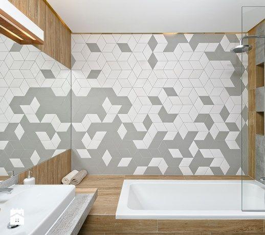 MIESZKANIE POKAZOWE NA OŁTASZYNIE - Mała łazienka bez okna, styl skandynawski - zdjęcie od Partner Design