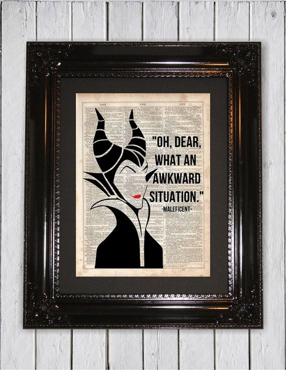 Maleficent Awkward Situation Quote by MySilhouetteShoppe on Etsy