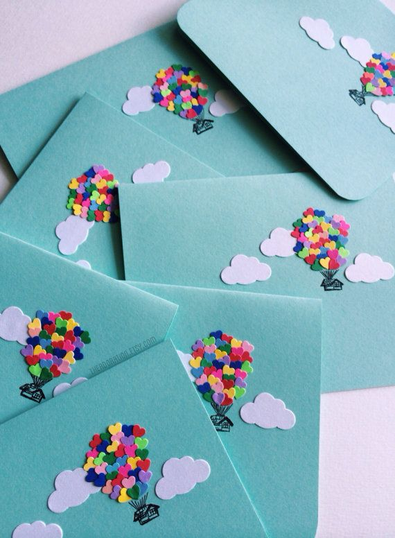 Heart Balloon House Card by theadoration on Etsy
