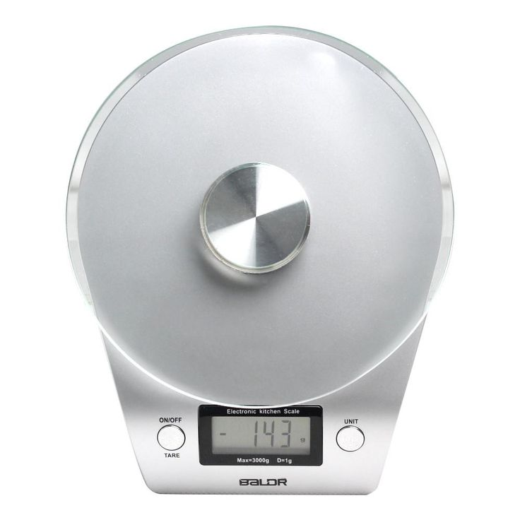 Baldr Glass 3kg 3000g/1g Digital LCD Electronic Kitchen Tools Weight Food Diet Postal Scale