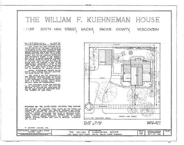 William F. Kuehneman House Diagrams Property Layout